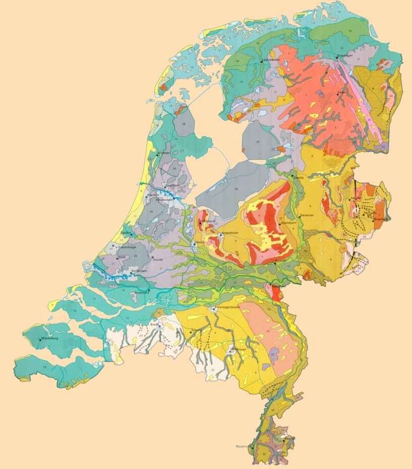 Geomorfologische kaart van Nederland