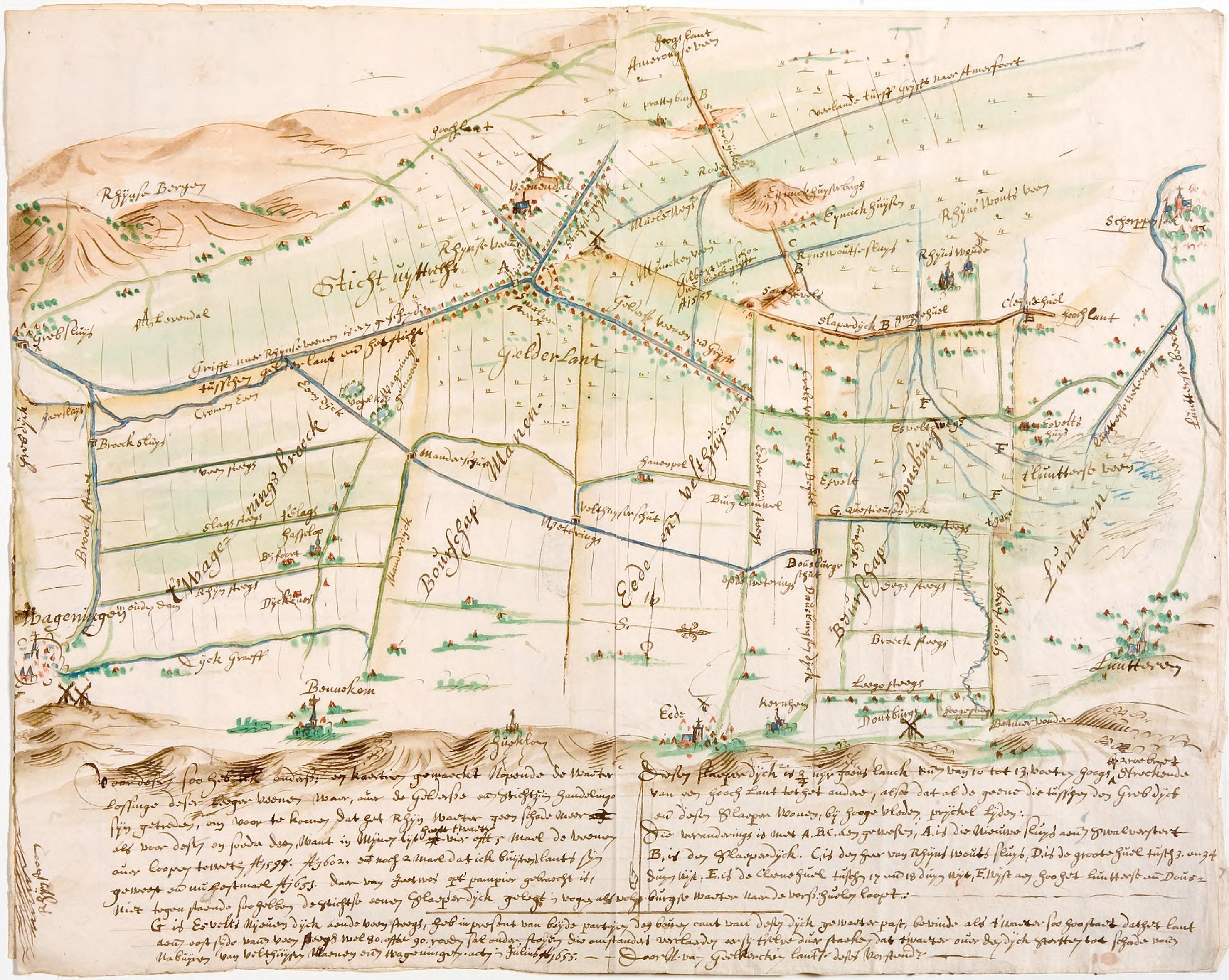 gelderse vallei 1655 kaart 16
