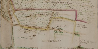 Kaart uit 1640 van de Moft