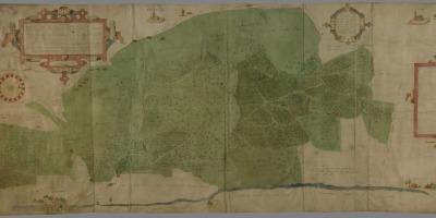 Kaart uit 1570 van het Moftbos