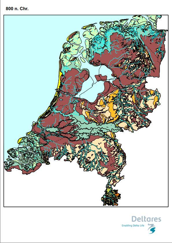 Paleogeografische kaart 800nc