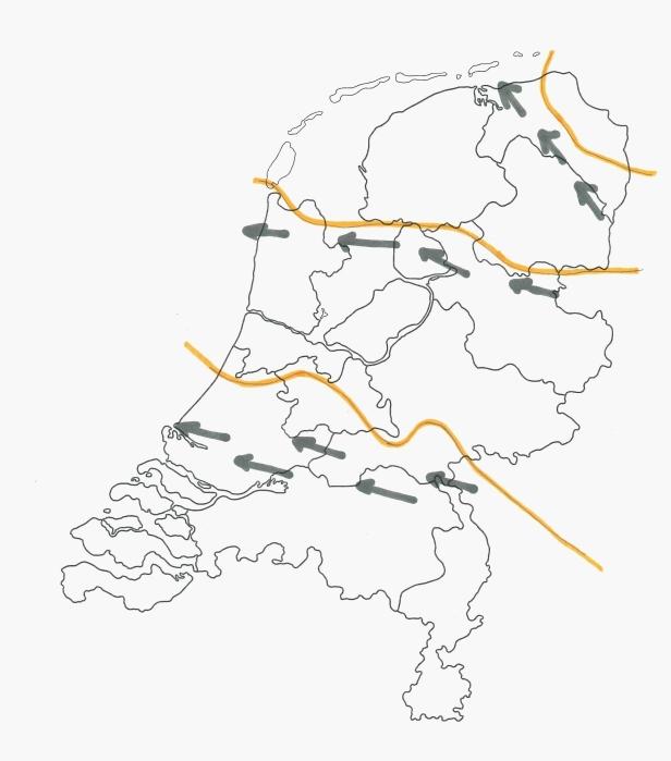 tekening 13 nederland oerstroomdal stuwwal