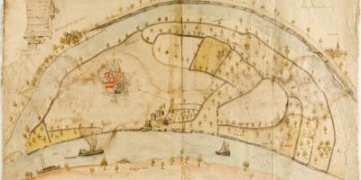 Kaart van de Maneswaard uit 1568