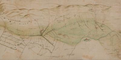 Kaart uit 1628 van Van Geelkercken van De Gelderse Vallei
