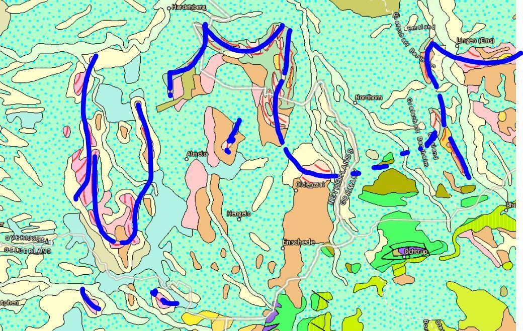 geomorf Overijssel twente salland