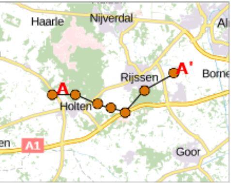 doorsnede sallandse heuvelrug - kaart