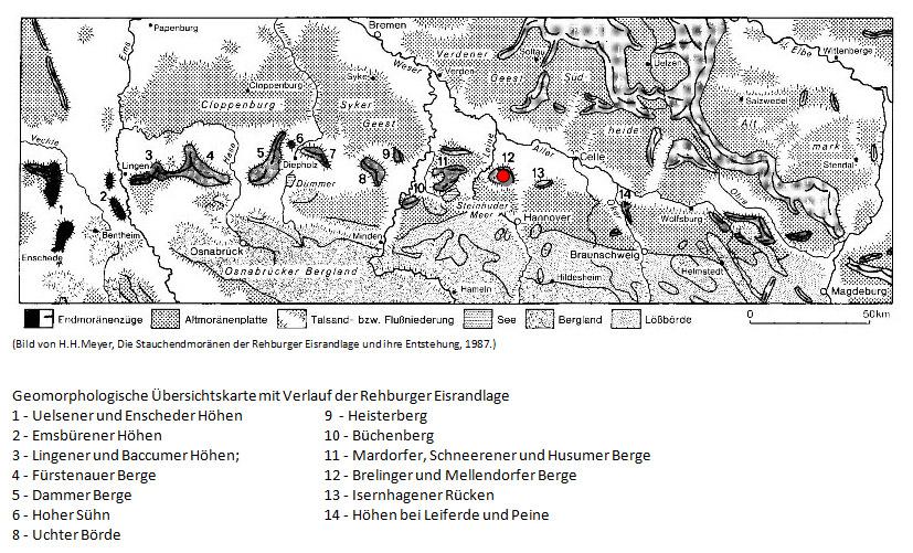 kaart geomorf duitsland