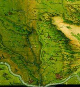 Detail van de kaart van sGrooten uit 1557