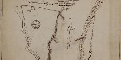 Kaart van Wageningen uit 1614