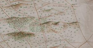 Detail van de kaart van Van Geelkercken uit 1649 van de Moft