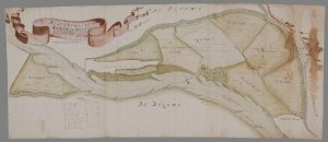 kaart Maneswaart in 1668