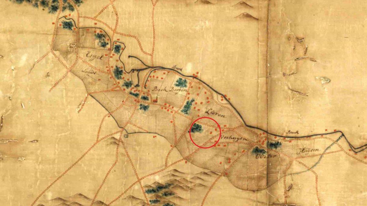 De Oudebeek in 1748