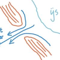 Doorbraakdalen door de stuwwallen