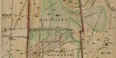 Kaart uit 1655 van de buurschap Doesburgh