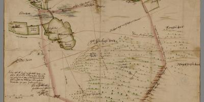 De Ginckel op een kaart van Van Geelkercken