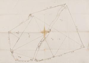 Kaart uit 1774 van Reemst