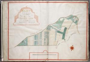 Polderkaart uit 1753 van de Hoeveslagen