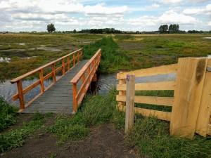 De nieuwe brug over de Kromme Eem