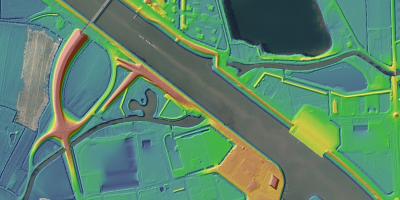Kruispunt Linge met Amsterdam-Rijnkanaal op het AHN