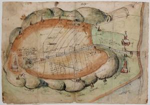 kaart uit 1550