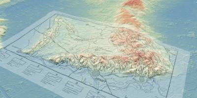 kaart van Van Maarleveld over het AHN gelegd